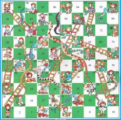 here s a free template for the game snakes and ladders add a set of