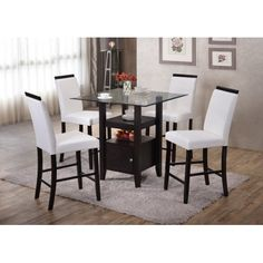 K & B Furniture Lynnfield Counter Height Dining Chair - Set of 2 - Work great and a lot cheaper then others brands.This K & B Furniture that is ranked 1172338 i Dining Chair Set, Dining Room Table, Dining Rooms, Kitchen Chairs, Kitchen Dining, Cheap Dining Sets, Counter Height Dining Sets, Patio Bar Set, Parsons Chairs
