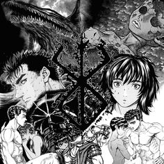 Berserk - Guts and Casca (Collage by u/OffTheGreenWall)