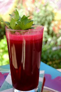 Miracle Cure Juice | Raw Edibles. 2 large beets, 4 long carrots, 2 apples, 6 stalks celery, 2 limes, 2 inches ginger.