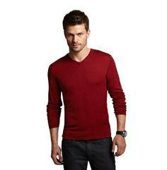 Silk-Cotton V-Neck Sweater - Kenneth Cole #embracethepresent