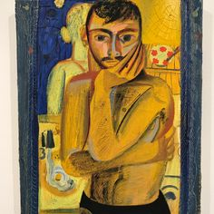 Fratino combines domestic themes of Intimist painters like Pierre Bonnard with the kind of exaggerated figuration found in works by Max Beckmann and Dana Schutz. Beach At Night, Bear Art, Pastel Drawing, Male Figure, Objet D'art, Face Art, Erotic Art, Figurative Art, Yorkie