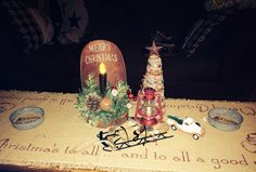Our coffee table vignette(The Gilbert Homestead) :-)sg