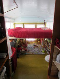 Adventures of the Yellow School Bus: Room under the queen bed