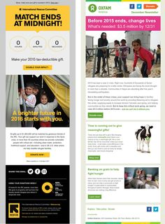 This month, we're showcasing the best nonprofit email appeals of the last year to inspire your upcoming end-of-year appeals. Newsletter Design Templates, Email Newsletter Design, Newsletter Ideas, Email Templates, Online Campaign, Email Campaign, Direct Mail Design, Email Design Inspiration, Responsive Email