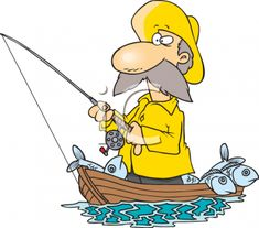 Royalty-Free (RF) Clip Art Illustration of a Cartoon Fisherman Standing In His Boat by Ron Leishman Cartoon Fish, Cartoon People, Royal Icing Templates, Christmas Mug Rugs, Fish Clipart, Cartoon Airplane, Mouse Illustration, Clip Art Pictures, Fish Man