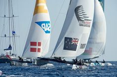 Pic of the day from day 2 in Nice: Making up places. @extremesailing #etnz #exss