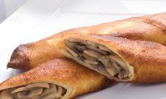 Crepes de Champiñones con Salsa de Albahaca (Mushroom Crepes with Basil Sauce) - Hispanic Kitchen