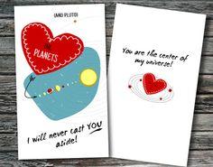 Mini Nerdy Science Valentines Day Cards Set of by NerdyWordsGifts