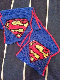 Superman Scarf By Justine Vo - Free Crochet Pattern - (ravelry)