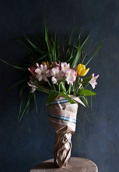 washi tape flower wrap