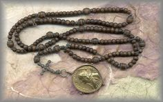 15 decade rosary of fine wooden beads dated (1720) called a 'Psalter'...