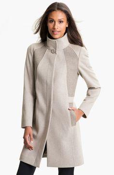 Cinzia Rocca Mix Texture Wool Coat