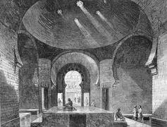 Turkish baths at 76 Jermyn Street Turkish Bath House, Roman Bath House, Gentlemans Club, Sauna Design, Bath Design, Mediterranean Baths, Pillars Of Hercules, London History, Art Google