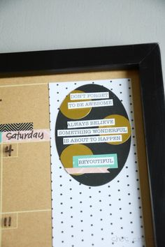 Make your own DIY Dry Erase Calendar to get your family organized! Such a great idea!