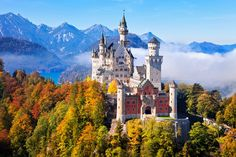 Famous Castles In Germany -Neuschwanstein Castle Sleeping Beauty Castle, Germany Castles, Neuschwanstein Castle, Famous Castles, Fairytale Castle, Cinderella Castle, Princess Castle, Munich Germany, Bavaria Germany