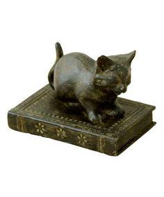 Sitting Liberty Cat Figurine