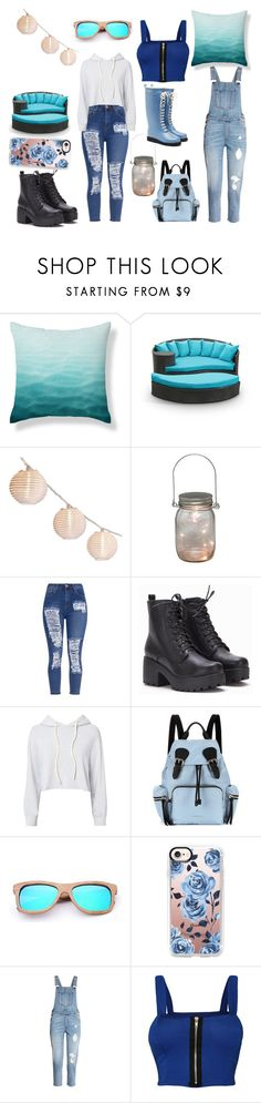 """""""Blu outside picnic"""" by ambergrande on Polyvore featuring Gerson, Monrow, Burberry, Casetify, WearAll and Ilse Jacobsen Hornbaek"""