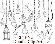 Doodle bloemen illustraties: DOODLE CLIPART Hand door ChiliPapers