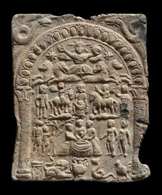 exquisite example of a plaque depicting the 'Danubian Horsemen' and their central goddess… seemingly a version of Epona.