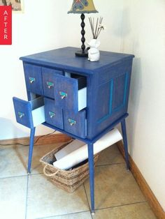 Before & After: A Dumpster Dive Card Catalog Gets Darling | Apartment Therapy