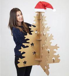 Árbol de navidad ecológico. Sorprende a los tuyos. Entrega en 4 días.Prod. en España con materiales certificados FSC. Decora tu navidad con cartón.