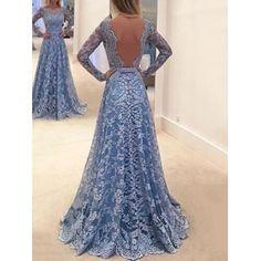 Koronkowa sukienka Backless Maxi -