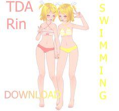 TDA Rin Swimming Download by Yuu2002