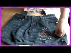 DIY how to make a bag out of old jeans - YouTube
