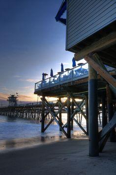 Fisherman seafood restaurant at San Clemente Pier! California Love, California Coast, Southern California, Seaside Beach, Ocean Beach, San Clemente Pier, I Love The Beach, Storage Units, Seafood Restaurant