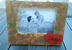 Father's Day frame. Made with just a little help from mommy!