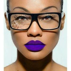 That lip color is SO VIBRANT and GORGEOUS and STUNNING!!! And it's PURPLE!!!! Pinned purely for the lip color.