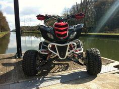 Yamaha Raptor 450cc black red ATV quad street