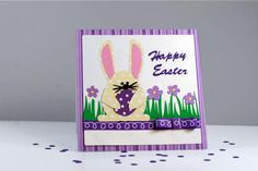 Introduction to Easter card paper craft.: Easter Bunny Card