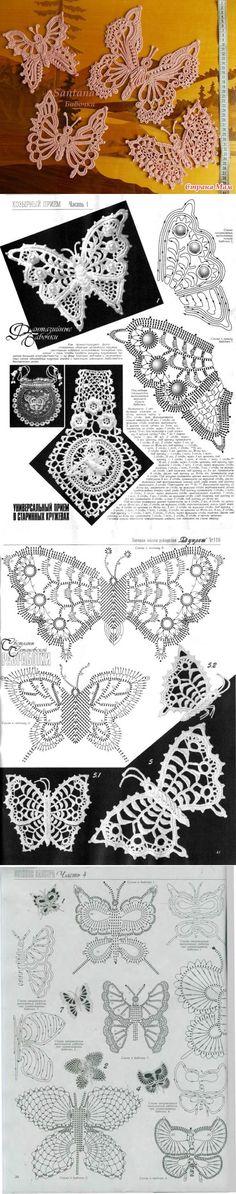 Мотивы ирландского кружева (бабочки) - Страна Мам | Ирландское кружево. | Постила