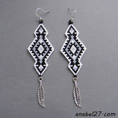 seed bead earrings - native american inspired - beaded jewelry