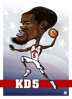 Kevin Durant - USA basketball  London 2012   DevianTom © 2012