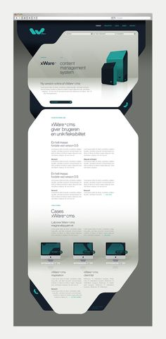 Retro Future style - rounded edges to retro shapes -  xWare - Corporate Identity by Sebastian Gram, via Behance