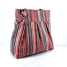 Shoulder Bag Stripes Alice Kennedy Large by SewMuchFabric2010, $42.00
