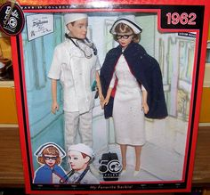 Doctor Ken and Nurse Barbie, My Favorite Barbie, 50th Anniversary Barbie Collector Series Gift Set Reproduction of 1962 dolls