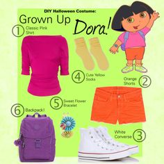 Dora the explorer costume!  Favorite Book Character Day costume!  Love :)