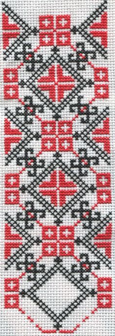 I'm making a Ukrainian embroidered shirt for my boyfriend. Here is how it is coming along so far. Cross Stitch Bookmarks, Cross Stitch Borders, Cross Stitch Art, Cross Stitch Alphabet, Modern Cross Stitch, Cross Stitch Designs, Cross Stitching, Cross Stitch Embroidery, Embroidery Patterns