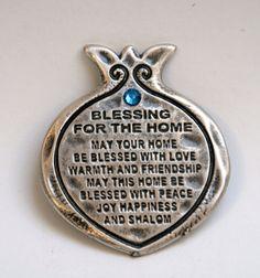 Home Blessing fridge magnet pomegranate amulet genuine SWAROVSKI crystal