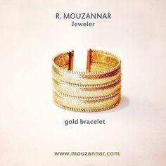 #gold #goddish #bracelet #18kt #rmouzannar #jeweler #italianjewelry #beirut #lebanon