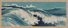 Title: Hatō zu. Title Translation: Waves.  Creator: Uehara, Konen, 1878-1940.   Date Published: between 1900 and 1920. Medium: 1 print: woodcut, color. Summary: Print shows ocean waves.
