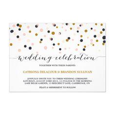 Confetti wedding invitations http://www.itgirlweddings.com
