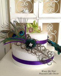 Customize this Stunning Peacock Cake Decoration by WaterMeNot