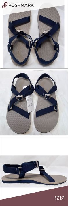 edd8fe45efb5 Columbia Water Sports Sandals Columbia Sportswear Red River Sandal NEW IN  BOX Gray with navy blue and white accents Columbia Shoes Sandals    Flip-Flops