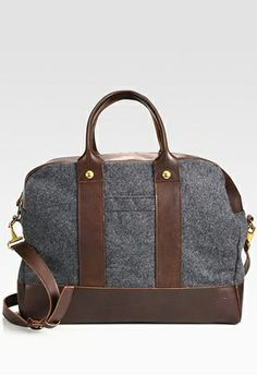 Rag & Bone Duffel Bag, $550, available at Saks Fifth Avenue//be still my heart