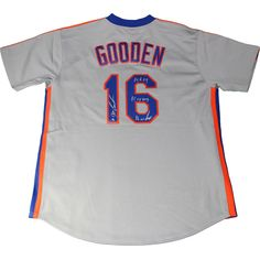 Dwight 'Doc' Gooden Autographed New York Mets Throwback 1986 Grey M&N  If you are interested in this item. Please contact me.  Thank you Dream Collector